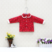 Детские рубашки из хлопка и флиса для девочек куртка на пуговицах для девочек от 0 до 24 месяцев, детская блузка одежда принцессы с длинными рукавами