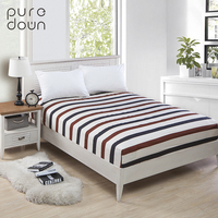 Puredown 100%Polyester Fitted Sheet Mattress Cover Printing Bedding Linens Bed Sheets With Elastic Band Double Queen Size Sheet