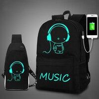 DC. MeiLun модный школьный рюкзак со светящимся рисунком на тему аниме USB зарядка школьный рюкзак для ноутбука рюкзак для подростков мальчиков и...