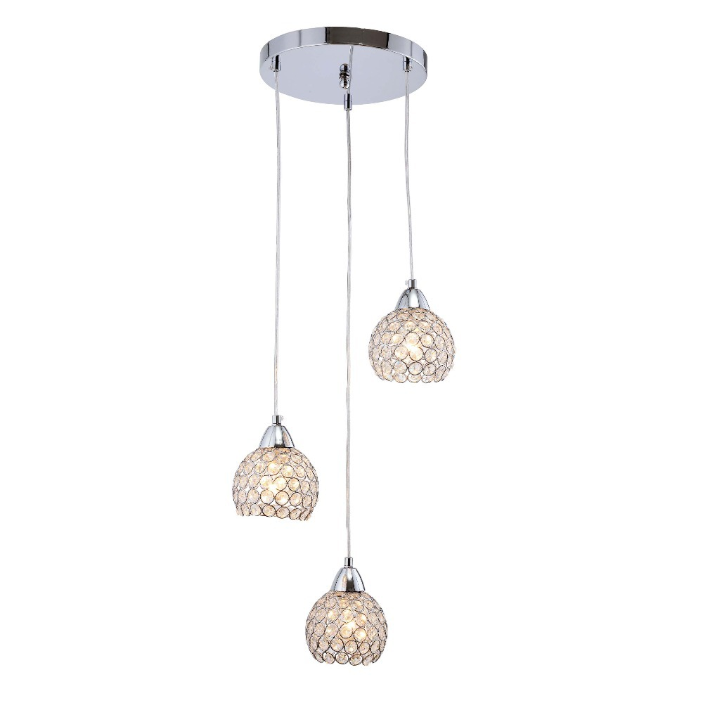 Modern Crystal Dining Room Pendant Lights Glass Cups Stair Case Pendant Lamp Bar Counter Hanging suspension Lighting Fixtures|Pendant Lights| |  - title=