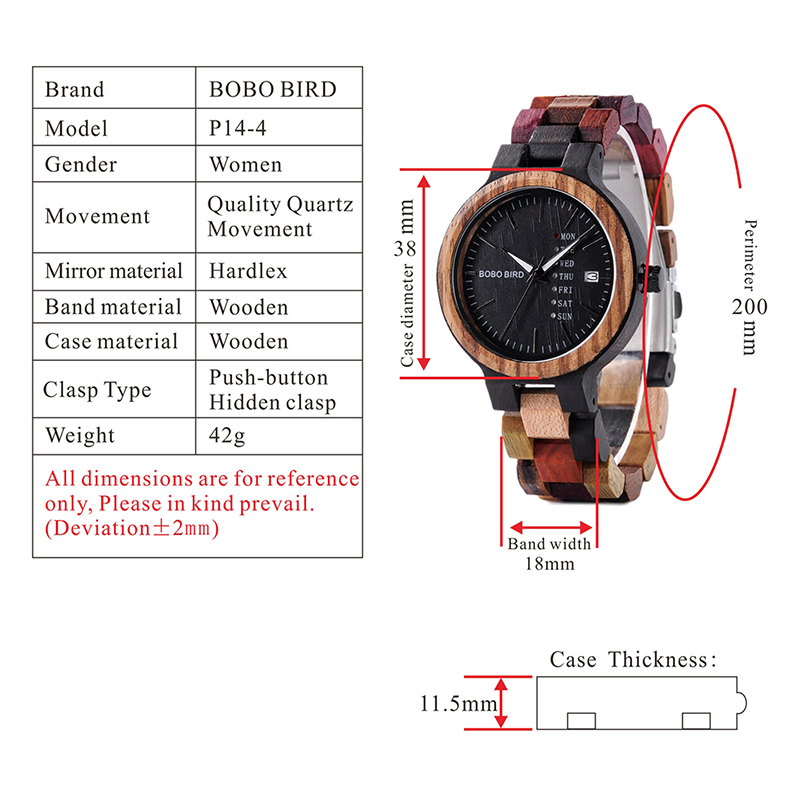 BOBO BIRD Luxury Design Auto Date Handmade Wooden Watch for Men 9