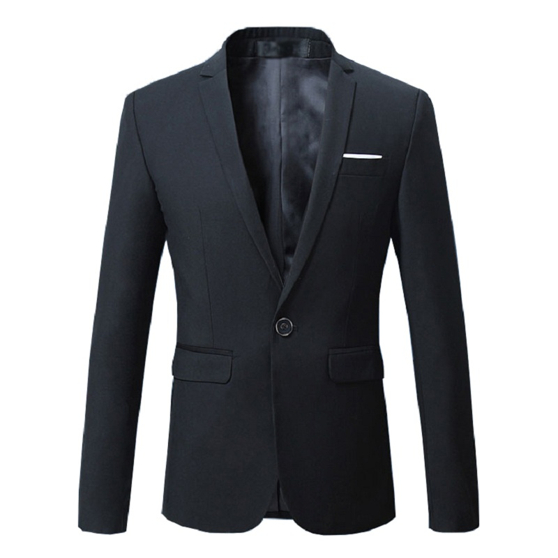 Mens Blazer Jacket Dress Male Classical Casual Slim Fit Blazers High Quality Office Party Suit Jacket