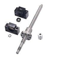 SFU1605 conjunto: SFU1605 laminados tornillo C7 con mecanizado + 1605 bola tuerca + BK/BF12 final soporte + acoplador para piezas CNC RM1605