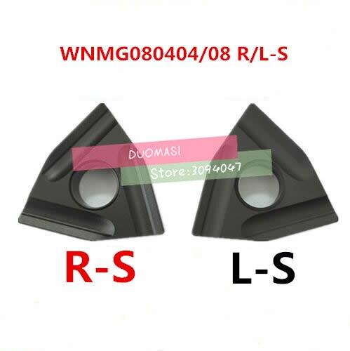 Купить с кэшбэком HOT SELL Cutting Tool 10PCS WNMG080404 / WNMG080408 R-S L-S tungsten carbide turning insert ,Carbide Blade TURNING TOOL WNMG432
