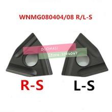 HOT SELL Cutting Tool 10PCS WNMG080404 / WNMG080408 R-S L-S tungsten carbide turning insert ,Carbide Blade TURNING TOOL WNMG432