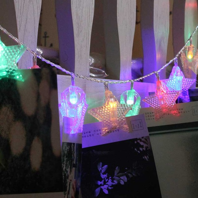 20 led string light christmas decorations for home darland led lights indoor star shape birthday party - Light Up Christmas Decorations