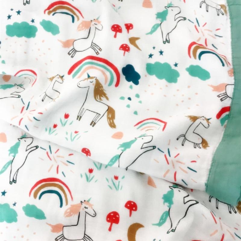 3 Слои хлопок, бамбук детское одеяло (6 Слои Марли) ребенка основы для новорожденных Прекрасный Одеяло постельные принадлежности зимнее детс...