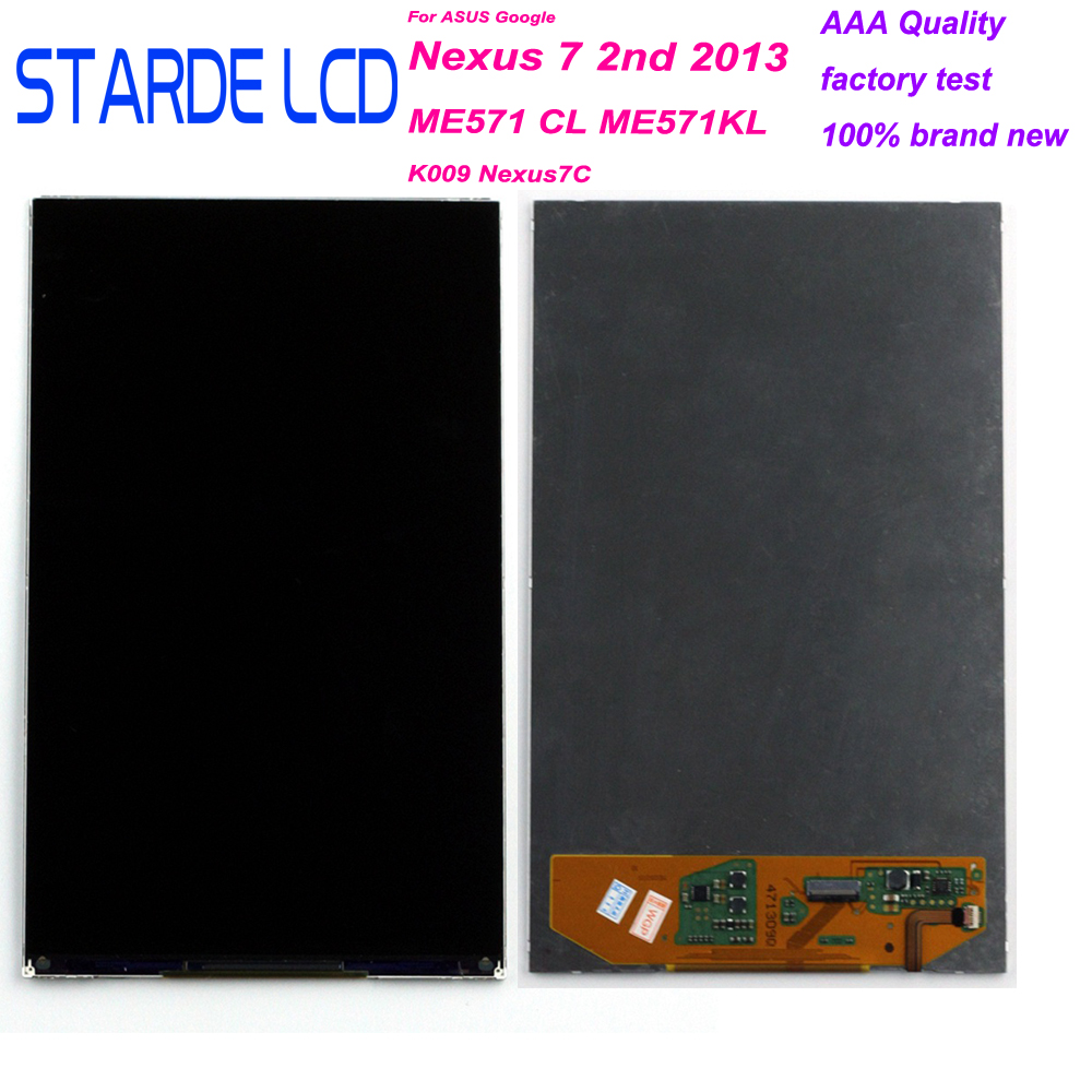 STARDE LCD For Google Nexus 7 2nd 2013 ME571 ME571CL ME571KL 7'' LCD Display Touch Screen Digitizer Flex Cable Tail Insertion