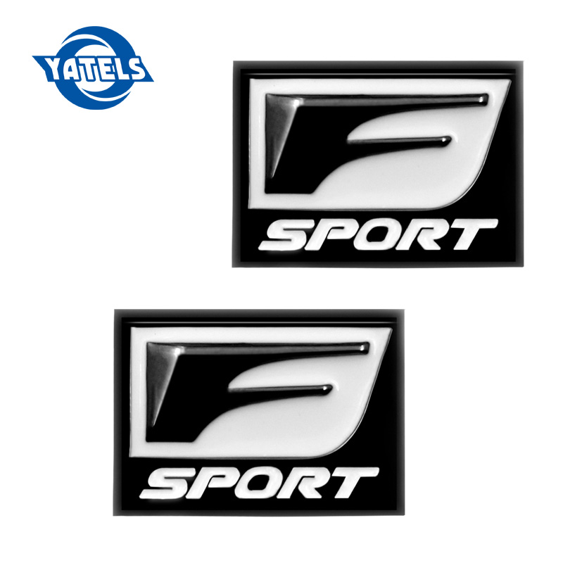 New F Sport FSport 3D Metal Badge Decal Rear Trunk Emblem Sticker for IS ISF GS RX RX350 ES IS250 ES350 LX570 CT200 Car Styling