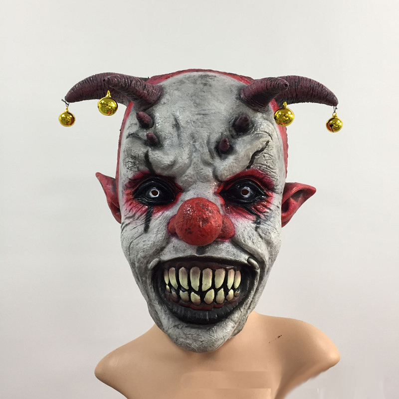 Halloween Clown Scary Mask Soft Rubber Latex Face Mask Prank Prop Party Cosplay