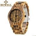 2016 homens moda casual relógio de quartzo homens pulseira de madeira bewell quartzo-relógio ultra-fina caso relogio masculino black Friday 086b