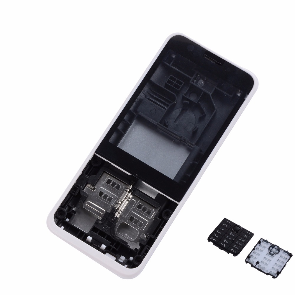 Full Mobile Phone Housing <font><b>Cover</b></font> Case With English Keypad For <font><b>Nokia</b></font> <font><b>230</b></font> Housing Case image