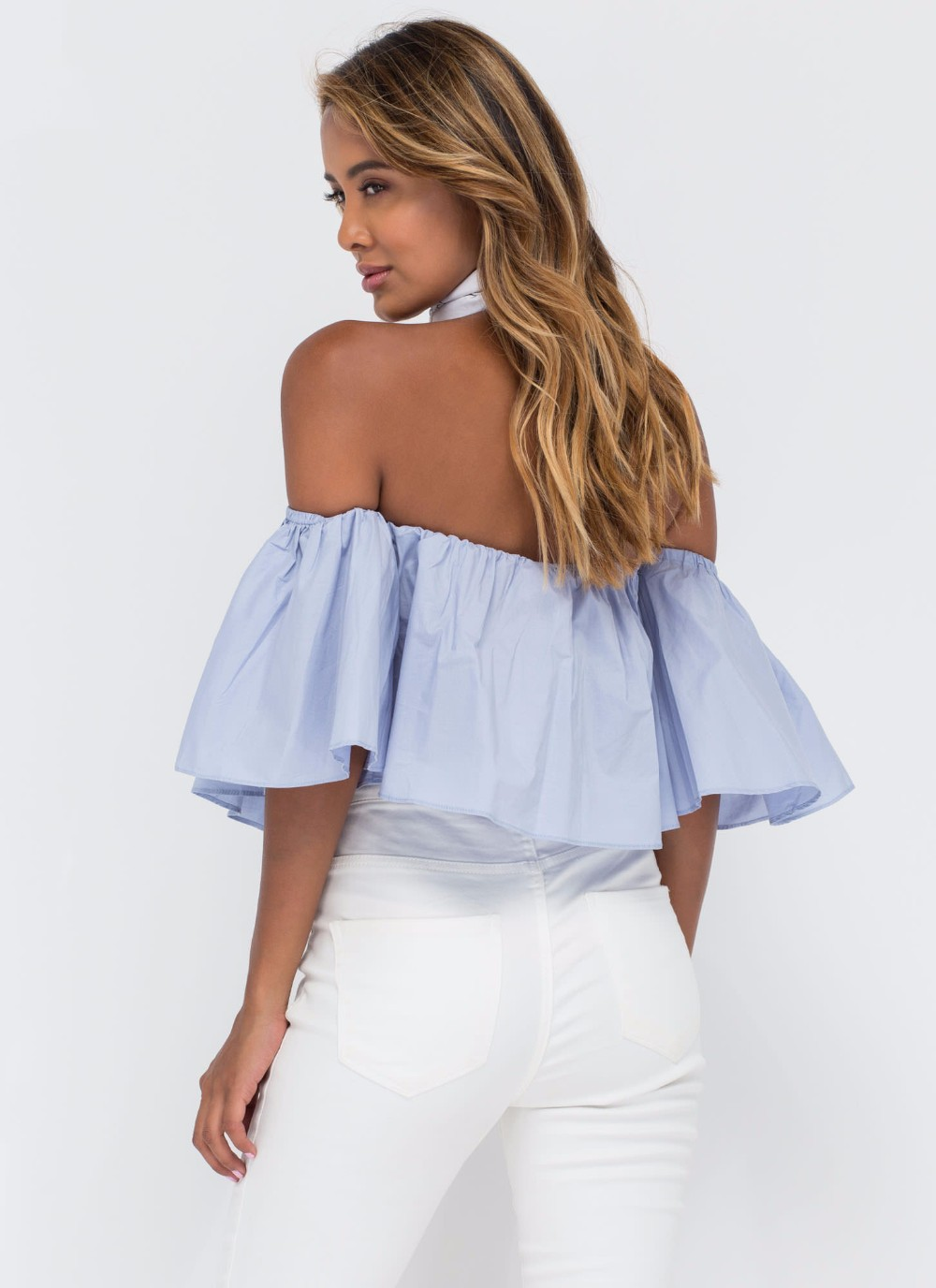HTB1RFCXNFXXXXakXpXXq6xXFXXX4 - T shirt women butterfly sleeve off the shoulder crop top 2017