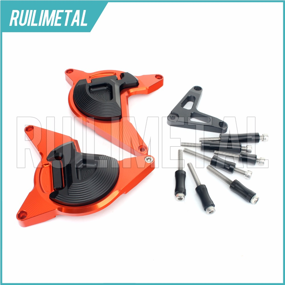 CNC Engine Frame Cover Case Guard Protector Slider Crash Pad for KTM DUKE 200 DUKE200