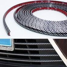 4M/8M Car Styling Bumper Moulding Trim Strip Wheel Hub Impact Protection Grille Carbon fiber Decorative Accessories