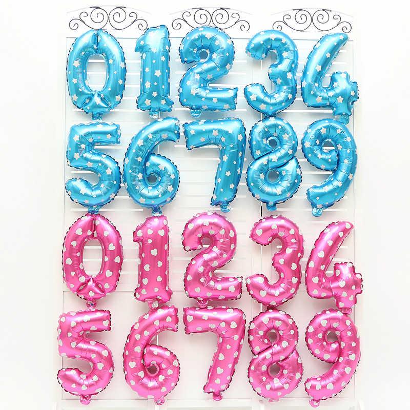16 32 polegada Número Um Balão de alumínio Rosa Azul De Prata De Ouro Descolorir Digital Suprimentos Globo Globos Decoração da Festa de Aniversário Do Chuveiro de Bebê