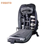 fosoto Digital DSLR Camera Bag Waterproof Photo Backpack Photography Soft Bags Video Case for Nikon Canon Sony With Rain Cover