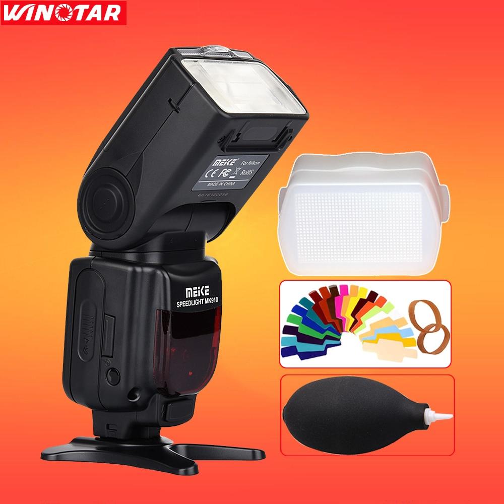 Meike MK-910 MK910 i-TTL 1/8000s HSS Sync Master & Slave Flash Speedlight for Nikon SB-910 SB-900 D7500 D800 D750 D600 DSLR