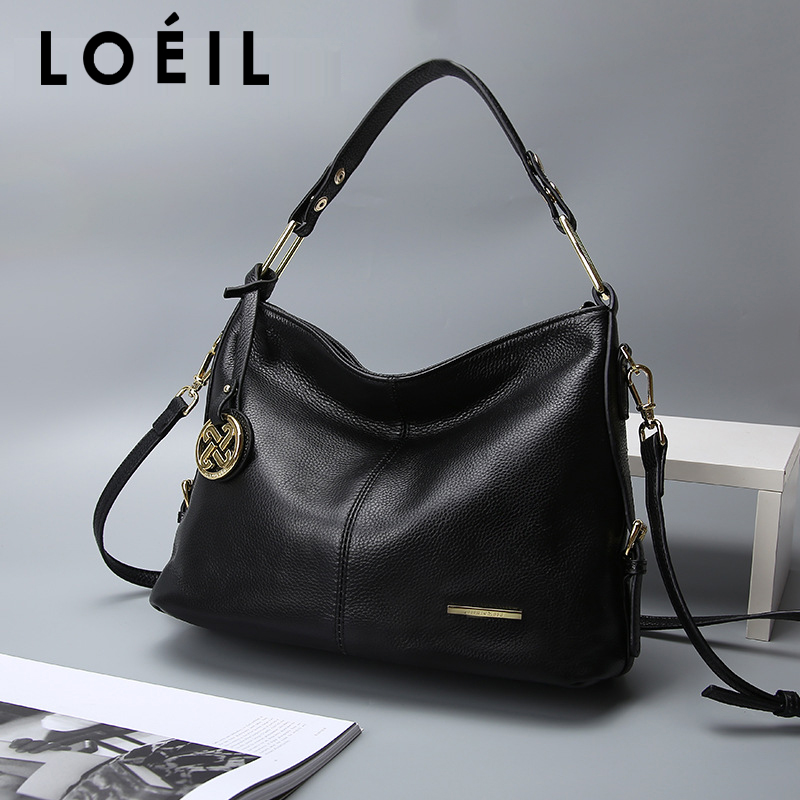 все цены на LOEIL The first layer of leather 2018 new leather handbags fashion shoulder slung handbags female bag ladies bag