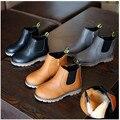 2017 de primavera y otoño de los nuevos niños shoes shoes botas de cuero inglaterra retro niños niñas martin botas sola marea 21-36