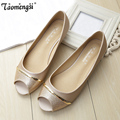 Casual peep toe women flat shoes summer shoe slip on ladies boat shoes