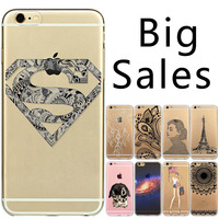 Big Sale Ultra Thin Phone Cases For Apple iphone 6 6s fundas Soft Sillicon Clear Transparent Phone Cover