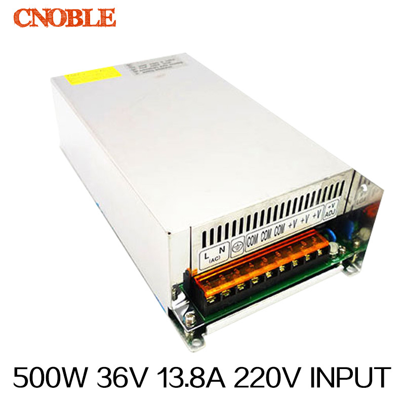 500W 36V 13.8A 220V INPUT Single Output Switching power supply for LED Strip light AC to DC 1200w 12v 100a adjustable 220v input single output switching power supply for led strip light ac to dc