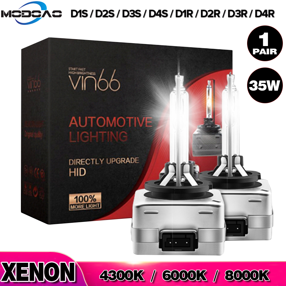 Car Headlight 2pcs D1S D2S D3S D4S 4300K 6000K 8000K 35W Xenon Headlight Bulb D1R D2R D3R D4R Headlamp