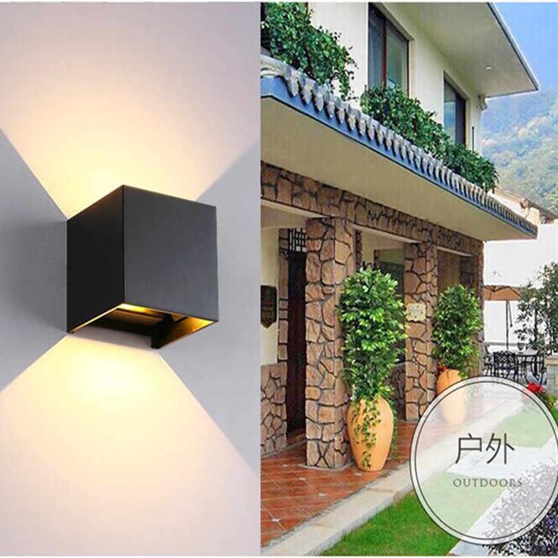 Квадратный короткий кубик Регулируемый поверхностный водонепроницаемый 9 Вт 12 Вт 20 Вт COB светодиодный настенный светильник для внутреннего и наружного освещения 85-265 в