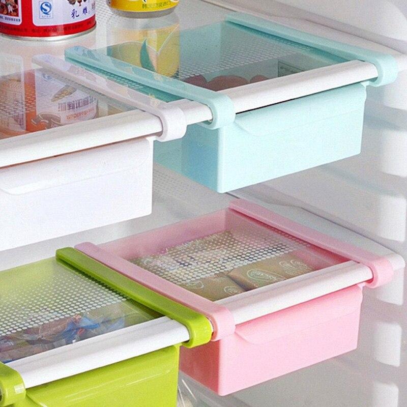 Kühlschrank Lebensmittel Container Lagerung Box Küche Frische Spacer Schicht Lagerung Rack Pull-out Schublade Frische Sortieren Organizer