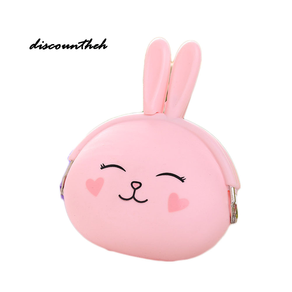 2017 New  Cartoon Rabbit Coin Purse Lovely Pouch Women Girls Small Wallet Soft Silicone Coin Bag Kid Gift