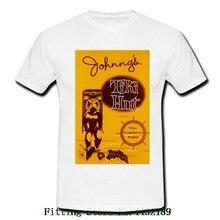 Johnny s Tiki Hut Bar Hawaiian Hawaii 50s White Mens Retro Vintage T Shirt  Tee Brand Style 60af2b8713a5