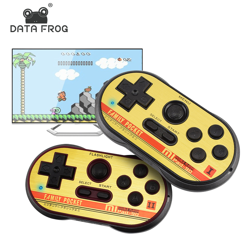 Data Frog Mini Video Gaming Console For FC30 Pro Build In 260 Classic Games 8 Bit Handheld Game Players Support TV Output ...