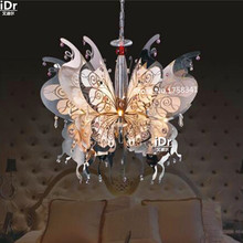 Butterfly stainless steel lamp K9 crystal lamp living room dining elegant fashion G4 Crystal Light Chandeliers  Rmy-0465