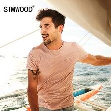 Simwood Лето 2017 г. Новые футболки Для мужчин 100% натуральный хлопок Винтаж модные Повседневное Топы корректирующие Slim Fit плюс Размеры TD017014