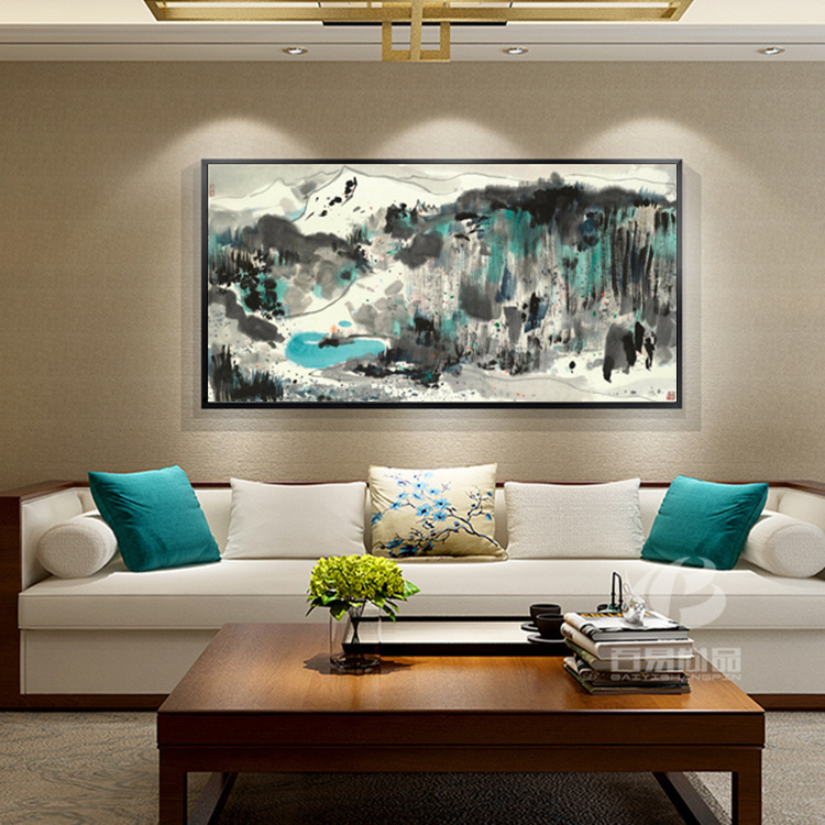 Wu Guanzhong kinesiska bläckmålning HD-utskrifter på Canvas Wall - Heminredning - Foto 2
