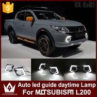 Night Lord Auto Led Daytime Running For Mitsubishi Triton L200 2015 2016 Drl Car Headlight Led