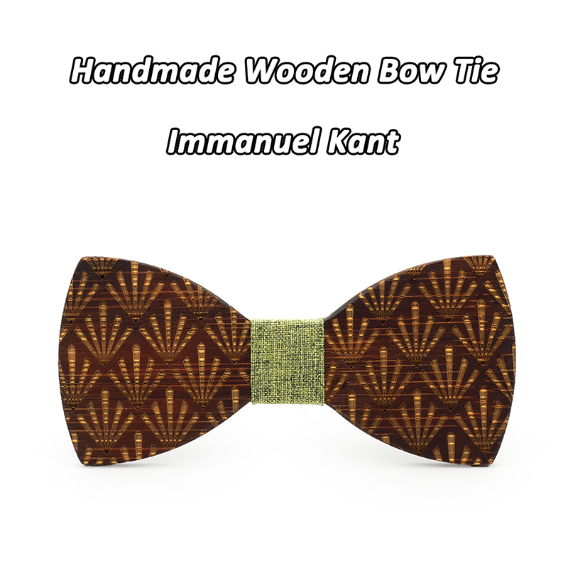 Handmade Retro Wooden Bow Tie Men/'s Gifts Leisure Wedding Dinner Party Business