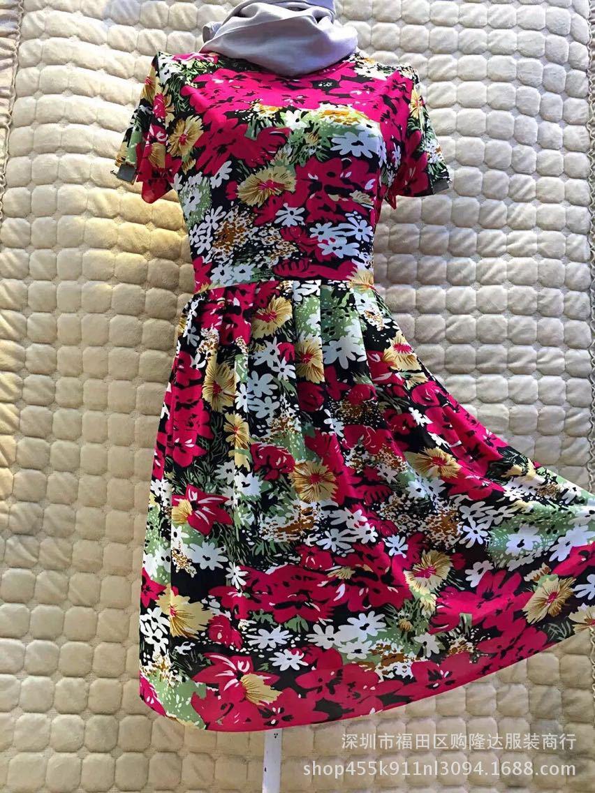bee Dress Women 2018 Elegant Casual Dresses Floral Print Vintage Jacquard A-line Short Party Dress Plus Size 5XL vestidos