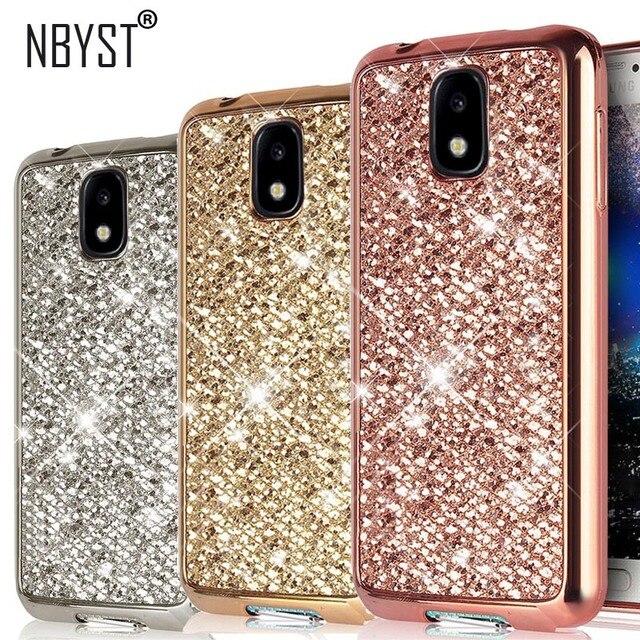 Bling Glitter Bìa Trường Hợp Đối Với Samsung Galaxy A7 A9 A6 A8 J4 J6 Cộng Với J5 J7 2018 2017 2016 S8 s9 S7 S6 Cạnh J2 Đại Thủ G531