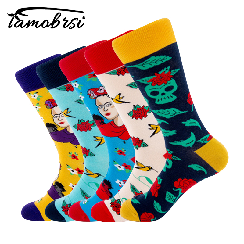 2018 Lolita Style Flower Skull Fashion   Socks   Short Pattern Funny Cotton   Socks   Women Winter Men Unisex Happy Short   Socks   Female