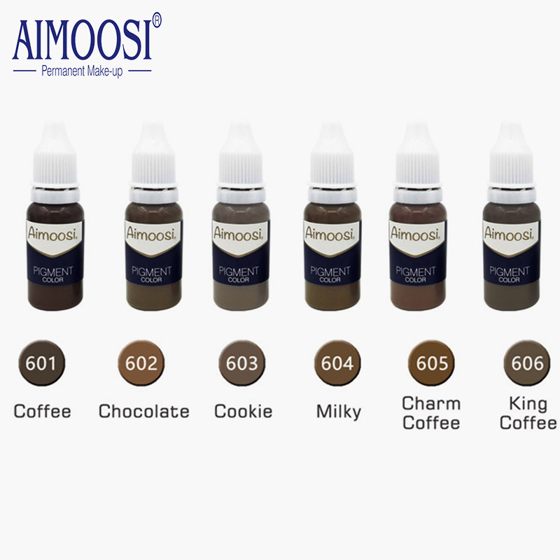 Купить с кэшбэком Aimoosi Eyebrow tattoo permanent makeup pigments microblading pure eye pigment ink color 15ml/bottle beauty makeup cosmetic