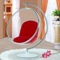 Principais, Cadeira de balanço interior, Sofá espaço, Cadeira da bolha Hanging + Material acrílico + cor transparente