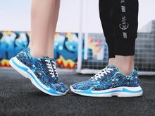 2018 summer new fashion breathable sneakers women running shoes Korean version of the tide camouflage mesh mens S men