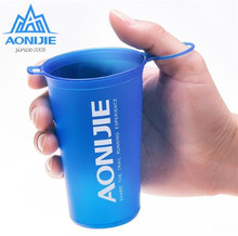 AONIJIE Foldable TPU Outdoor Soft Flask Water Bag Sport Camping Hike Running Water Hydration Bottle Mouth Kettle цена и фото