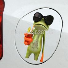Wall Sticker Bathroom Decor – Novelty Animal Frog Toilet Seat Sticker- Cartoon Wall Decals Home decoration Free Shipping