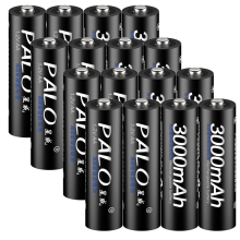 Palo 16pcs/lot AA 1.2V 3000mAh NI-MH Battery Rechargeable Batteries 2A Rechargeable Baterias for Camera With Box