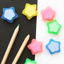 2Pcs/Lot Novelty Cute Star Love luminous Eraser Jelly Rubber kawaii Creative Stationery School Supplies Papelaria Gift For Kids