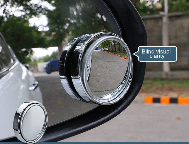 2017 New Auto Motorcycle Blind Spot Rear View Mirror 360 Degree Adjustable Car Mirror Accessories side car mirror Car Styling