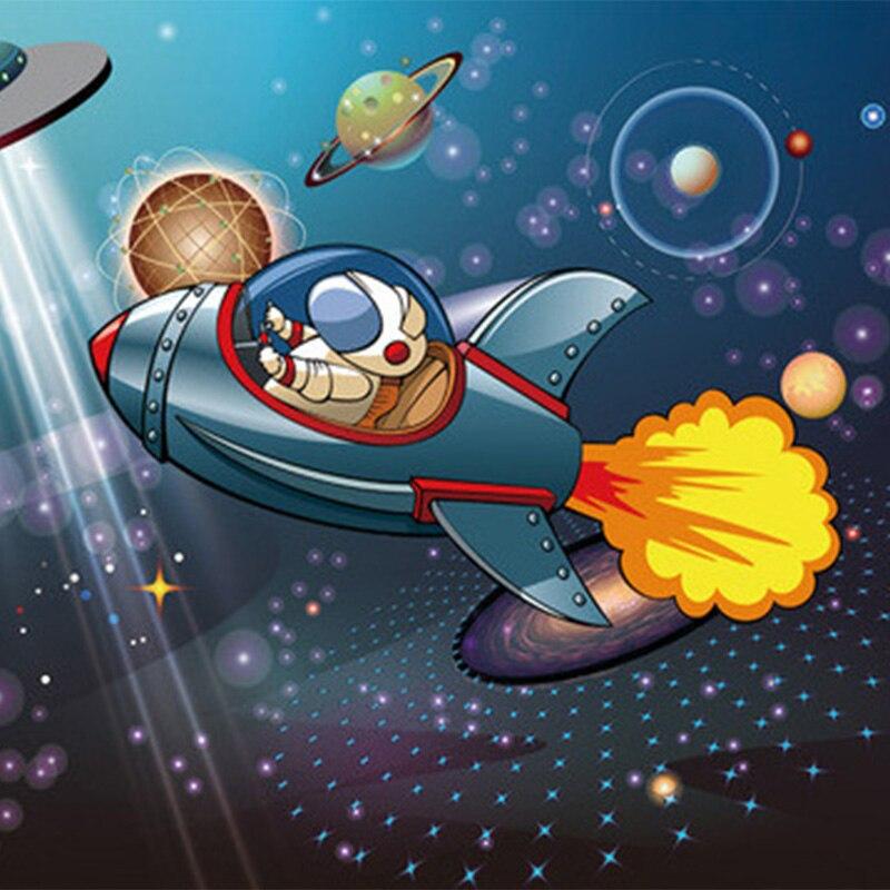 ... Space Shuttle Astronaut Boy Cartoon Children Room Backdrop Wall Mural  Photo Wallpaper Custom 3D Non  ... Part 91